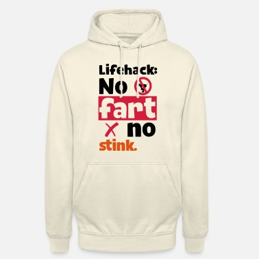 Smog VIE SIMPLE HACK - NO NO FART STINK - Sweat-shirt à capuche unisexe
