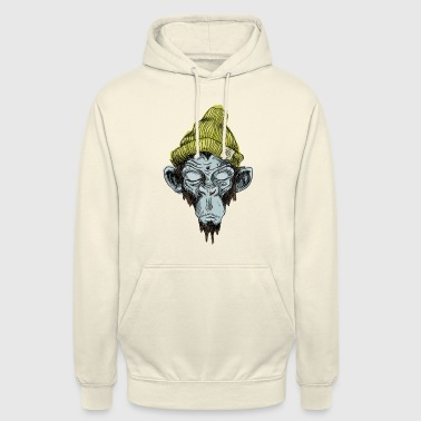 Monkey with hat - Unisex Hoodie