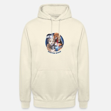 doc woof small png - Unisex Hoodie