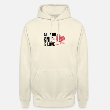 Gestrickt All you knit is love - Unisex Hoodie