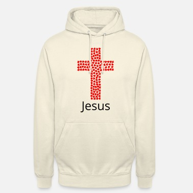 Dieu LOVE cross JESUS foi idée CADEAU - Sweat-shirt à capuche unisexe