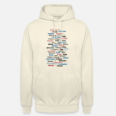 State United States of America United States of America states - Unisex Hoodie
