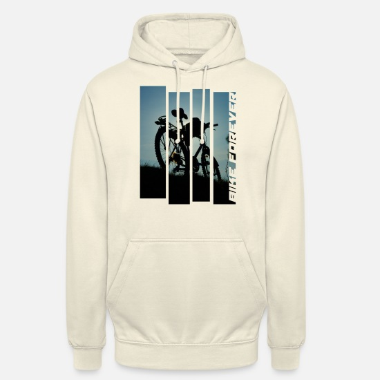 Biker Hoodies & Sweatshirts - bicycle bike MTB photo tour abendlicht tour - Unisex Hoodie vanilla