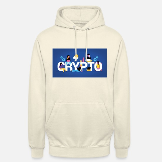 Birthday Hoodies & Sweatshirts - Love Cryptos Bitcoin Ripple EOS - Unisex Hoodie vanilla