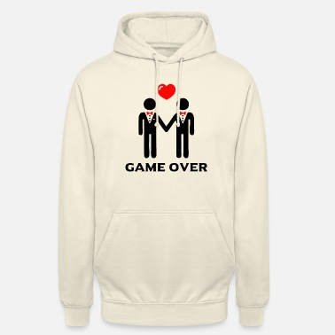 Game Over Bachelor Party Men LGBT - Game Over Shirt - Unisex Hoodie