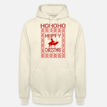 Sex Ugly Christmas 1- Rentier hat Sex- Happy Christmas - Unisex Hoodie