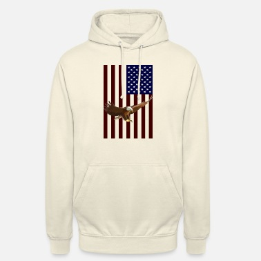 American Eagle American Flag with American Eagle - Unisex Hoodie
