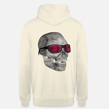 Gothic skull with sunglasses 3000 - Unisex Hoodie