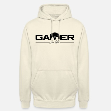 For Gamer For Life Black par Juiceman Benji - Sweat à capuche unisexe