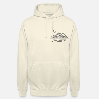 Mountains Moon & Mountains - Unisex Hoodie