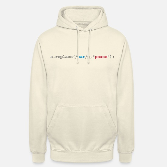 Lustige Pullover & Hoodies - replace war with peace - Unisex Hoodie Vanille-Milchshake