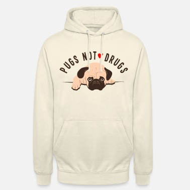Dogowner Pugs Not Drugs Graphic - Unisex Hoodie