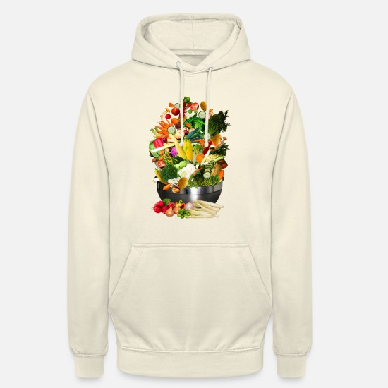 Fleischfrei Pullover & Hoodies - VEGAN COLLECTION - Unisex Hoodie Vanille-Milchshake