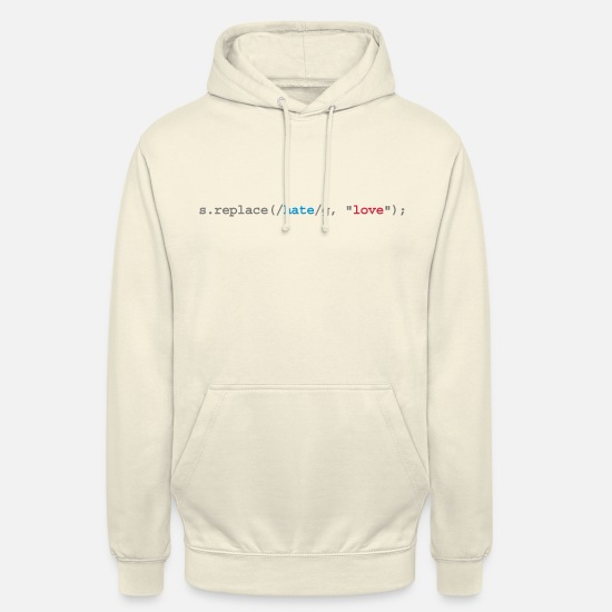 Lustige Pullover & Hoodies - replace hate with love - Unisex Hoodie Vanille-Milchshake