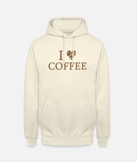 Love Hoodies & Sweatshirts - Coffee Love Addiction Dependent Office Gift - Unisex Hoodie vanilla