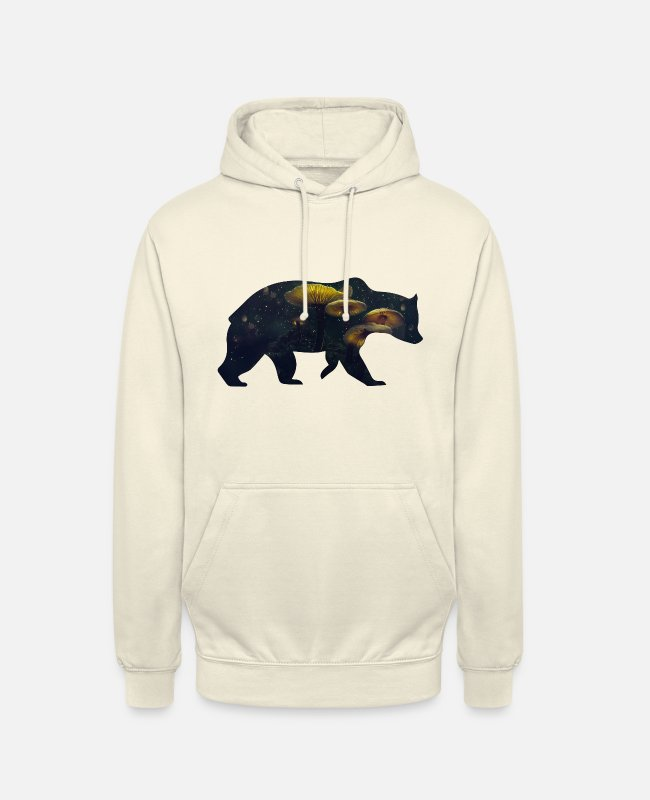 Nature Hoodies & Sweatshirts - Bear and Mushroom - Unisex Hoodie vanilla