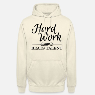 Typography Hard work beats talent - Unisex hoodie