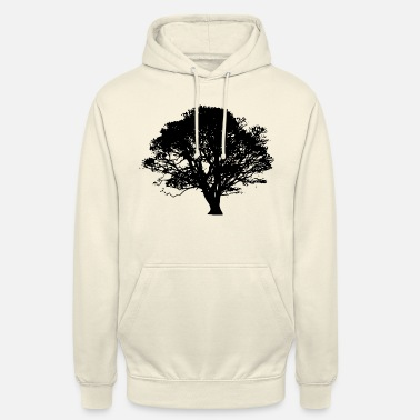 Eco Eco tree of life with branches, leaves and stem - Unisex Hoodie