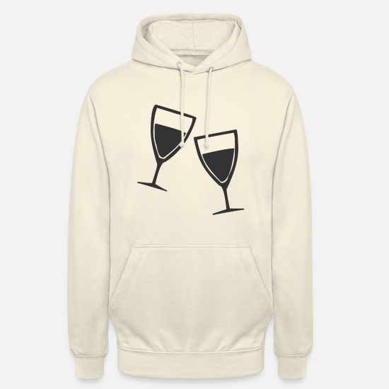 Wine Glass Hoodies & Sweatshirts - Champagne glasses or wine glasses - Unisex Hoodie vanilla
