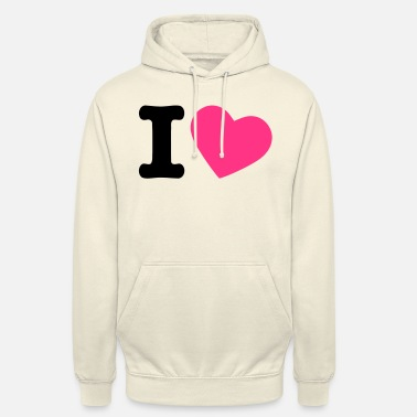 I Love I Love - Sweat à capuche unisexe