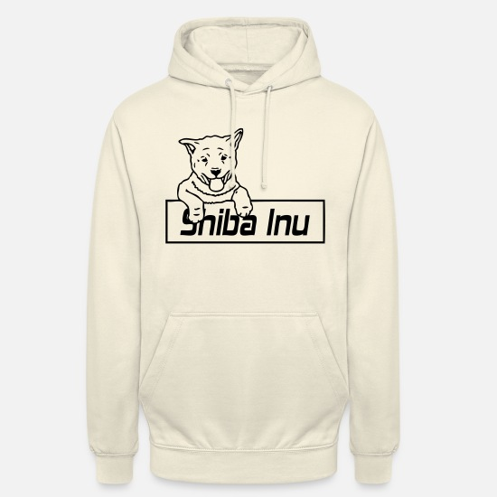 Japan Sweat-shirts - shibainupupbord_01 - Sweat à capuche unisexe vanille