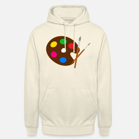 Painter Hoodies & Sweatshirts - Artist color palette brush - Unisex Hoodie vanilla
