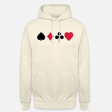 Playing playing cards - Unisex Hoodie