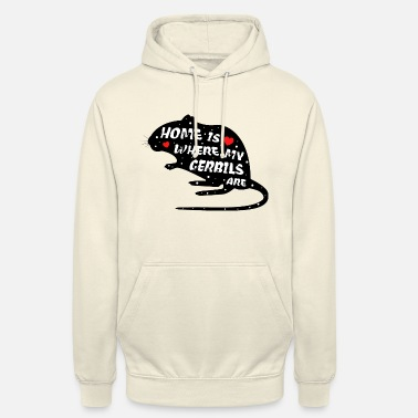 Gerbils | Funny saying | With mouse - Unisex Hoodie