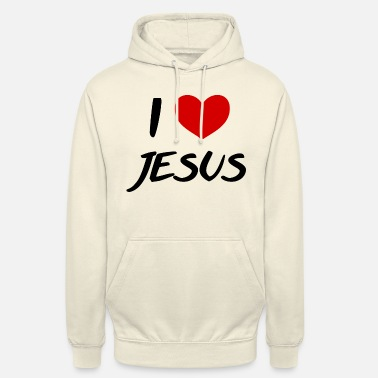 Good Shoppers God is Love Religious Heart Design Unisex Pullover Hoodie