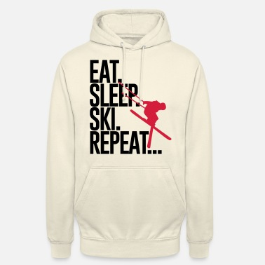 Sleep Eat. Sleep. Ski. Repeat... - Unisex Hoodie