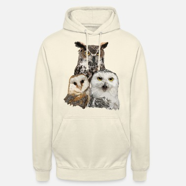 Owl Owls and owl - Unisex Hoodie