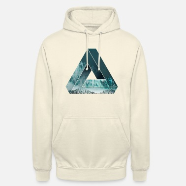 Cool Penrose Optisk illusion med naturen, cool - Hoodie unisex