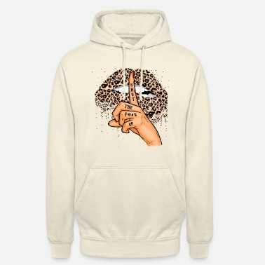 Leopard Lips With Funny Saying Gift Idea - Unisex Hoodie