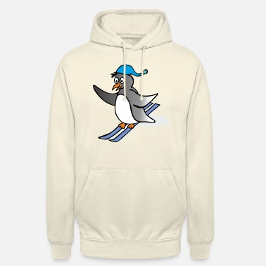 Cartoon Cartoon Penguin - skiing - Unisex huppari