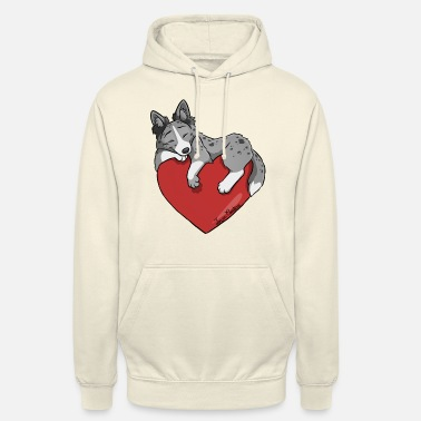 Cuore Cuore Border Collie Blue Merle - Hoodie unisex