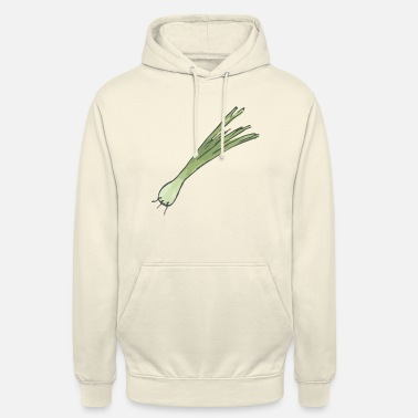 Spring Small leek, onion with roots - Unisex Hoodie