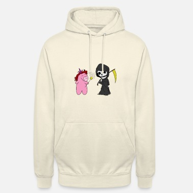Emo Death unicorn cute emo gothic goth dark girl - Unisex Hoodie