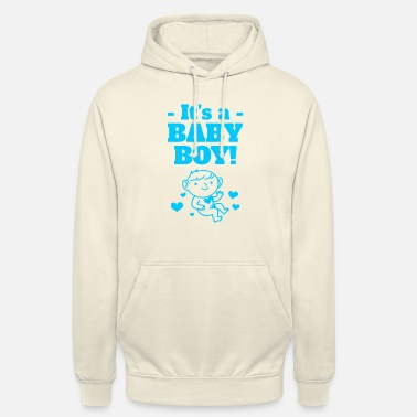Hospital Baby announcement baby shower gift outfit boy - Unisex Hoodie