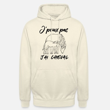 JPeux Pas Jai Cheval Humor Equitation Fille Cadeau Sweat /à Capuche