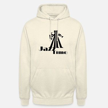 Saxeophonist Jazz Time musician with saxophone and trumpet - Unisex Hoodie