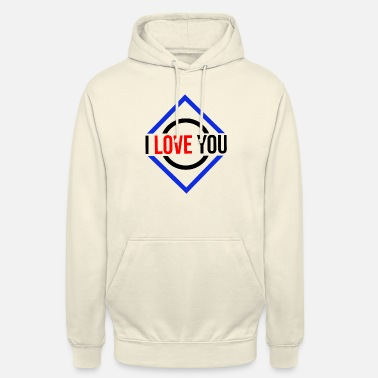 I Heart I love you love statement of love couple gift - Unisex Hoodie