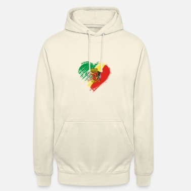 Grungy I Love Republic of Congo Heart Flag - Unisex Hoodie