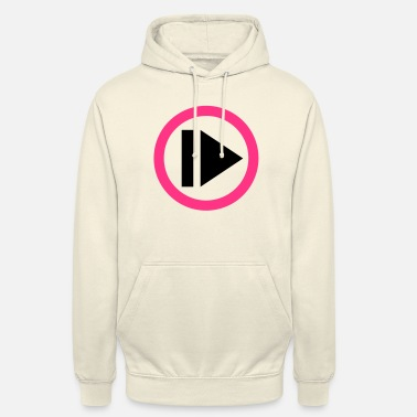 Button Play button - Hoodie unisex