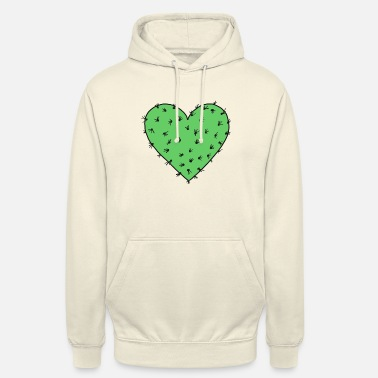 Cactus heart, Free Hugs!, Valentines day, love - Sweat à capuche unisexe