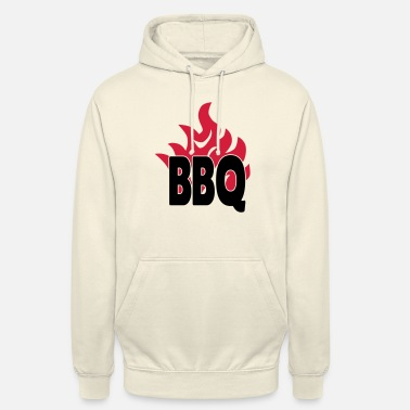 Barbacoa bbq with flames 2c - Unisex Hoodie