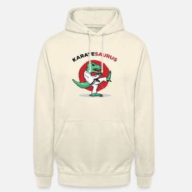 Funny Karate Kung Fu Judo Martial Arts Dino T-rex Gift - Unisex Hoodie