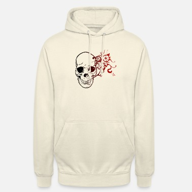 Skull_rose_color_v03hd - Sweat à capuche unisexe