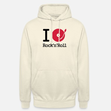 Musical I dj / play / listen to rock & roll - Unisex Hoodie