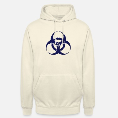 Toxin hazard worn out / hazardous distressed - Unisex Hoodie