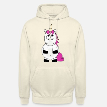 Eye Unicorn rolling his eyes - Unisex Hoodie
